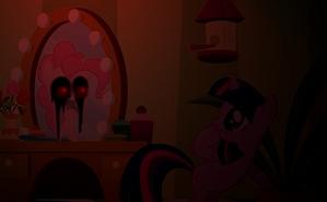 """we saw the pony's reflection"""