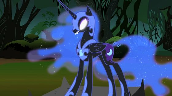 Luna transforming to Nightmare Moon