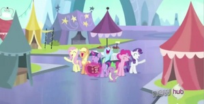 The Mane 6 at the crystal fair.