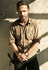 "Andrew लिंकन plays ""The Walking Dead"" central character Rick Grimes."