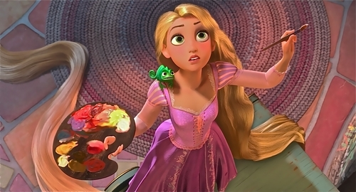 Rapunzel was very passionate about things and is an artist (and i like art!)
