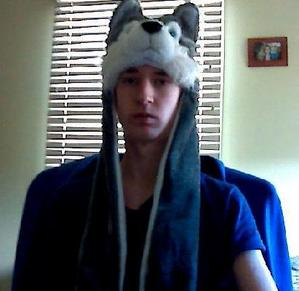 Me in my wolf hat that I got as a Christmas gift from my GF, Jess.