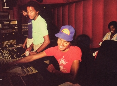 In The Recording Studio With His Brothers