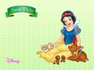 Snow White, animal lover