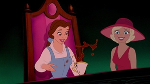 """Hey, Belle, I saved anda a seat!"""