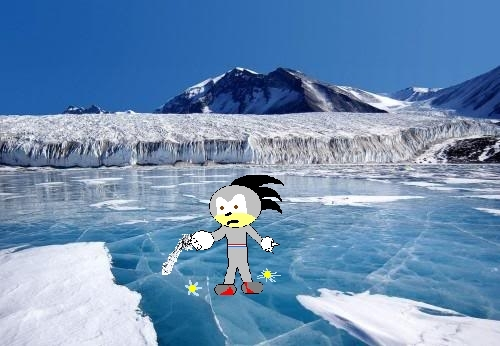 Sean on Frozen water
