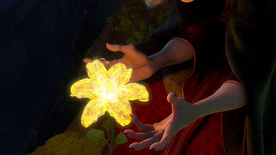 Mother Gothel sings to the flower