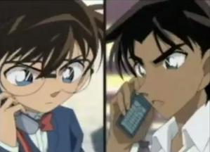 Me and Kudo talking at the phone.