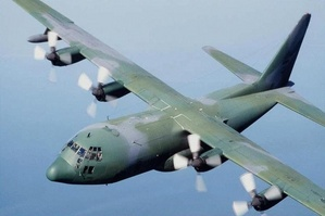Marines inside C-130.