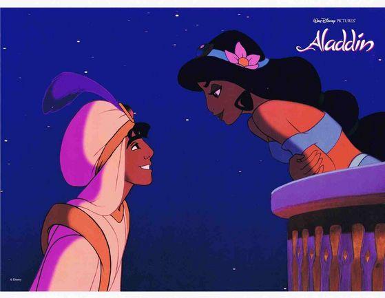 Jasmine: No wonder why Aladdin looks so mind blown!