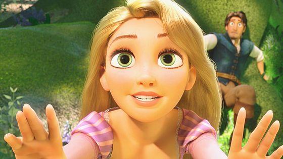 Rapunzel: Innocent beauty.