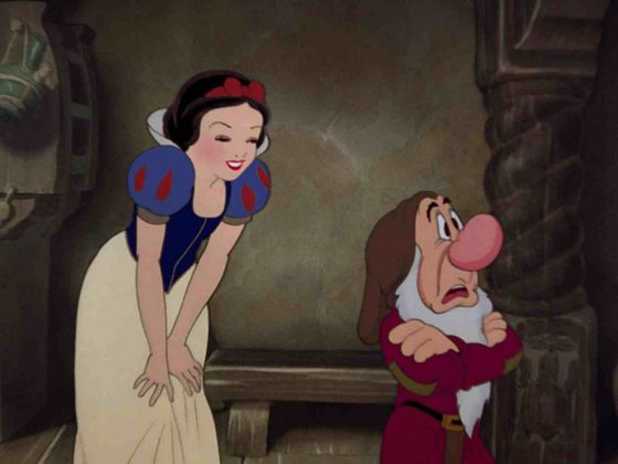 Snow White: Aw, look at her! She's truly irresistible!