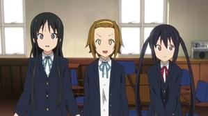 Mio,Ritsu and Azusa being nervous