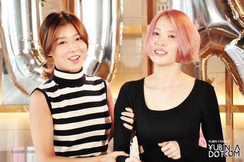 With Yubin from 'Wonder Girls'