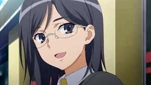 Konori Mii; a level 3 esper working in Judgment. She is very fond of Musashino 우유 and has some feelings of affection towards Kurozuma Wataru