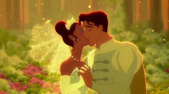 The magical kiss.