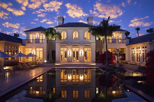 Backyard Of Michael's Sprawling Mansion