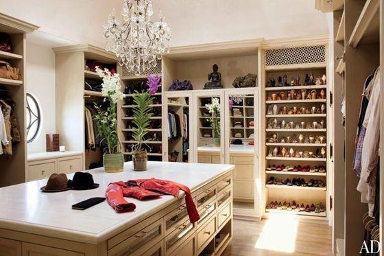 The Walk-In Closet At Michael And Maris' Apartment