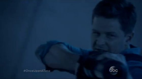 Charming has some kind of gun.