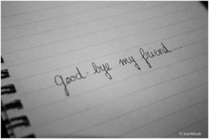 Goodbye sweetie ♥
