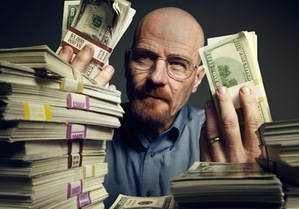 Walter White and all his cash!