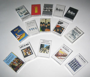 The Beatles Albums on Compact Cassette Audio Tapes