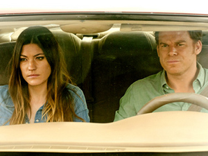 DRIVING ME CRAZY Deb (Jennifer Carpenter) and Dex (Michael C. Hall) go for a leisurely drive while working out their issues.