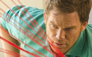 STRING THEORY Dexter (Michael C. Hall) tries to count the number of story threads this season.