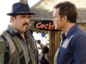 This is as suspiciously as Batista (David Zayas) ever looks at Dexter (Michael C. Hall).