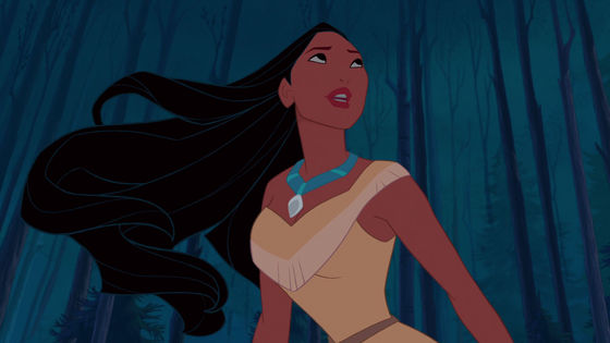 Pocahontas competed in the olympics once, but her bouncy-flouncy hair beat her.