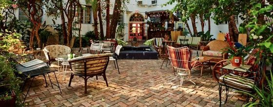 The Outdoor Patio At Michael's House
