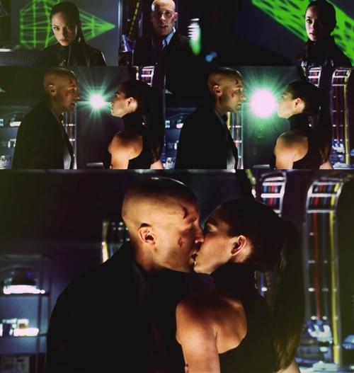Sharing their last kiss...