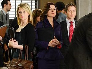 NEGATIVE NANCY Mamie Gummer returns as lawyer Nancy Crozier, the thorn in Alicia's side during the case of the week