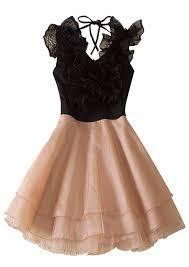 the black and beige dress