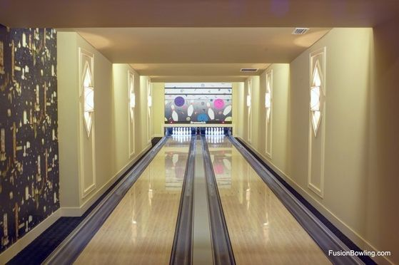 Michael's Private Home Bowling Alley