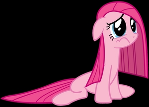 "Pinkie pie sad because of your posts about ""Cupcakes"""