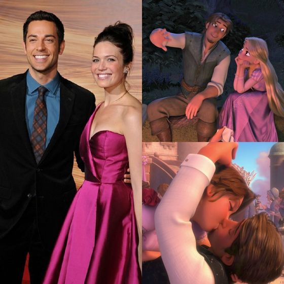 Gotta amor the actors that voices Rapunzel and Eugene; Mandy Moore and Zachary Levi
