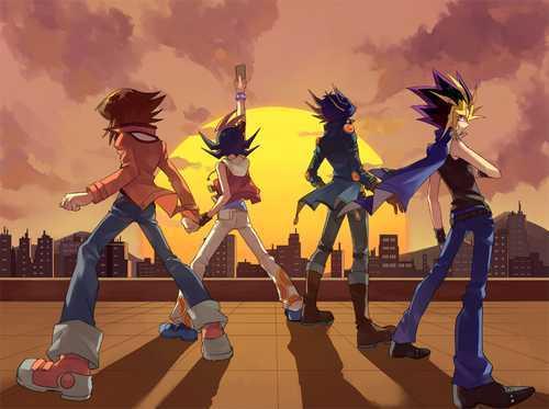 Jaden, Yuma, Yusei, Yugi