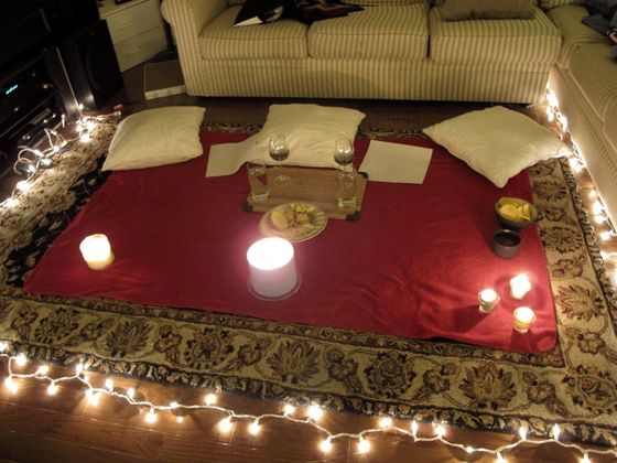 Intimate Late Night Picnic In Michael's Living Room