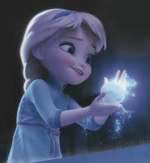 Elsa as a kid, before she had to hide her powers