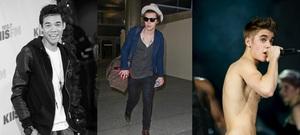 Claudio Encarnacion Montero, Harry Styles and Justin Bieber (Getty)