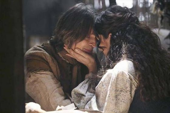 "hook and milah once upon a time I was waiting for creepy rumplehook to be like, ""we now need to kiss with tongue while i grope your right breast this is all part of the secret 'pirate's oath."