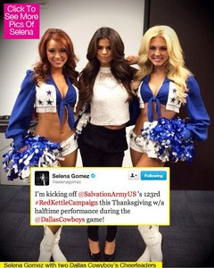 Selena and cheerleaders