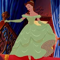 If Belle's Ball gaun was green, it would probably be my favorit of hers!