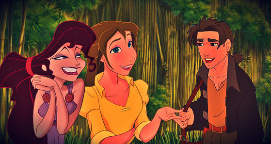 The Disney characters that Elene, Nora and Jakob look the most like