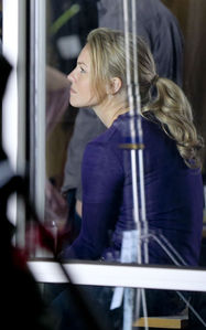 Eloise Mumford shoots scenes for the Fifty Shades of Grey movie