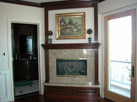 The Fireplace In Michael's Bedroom