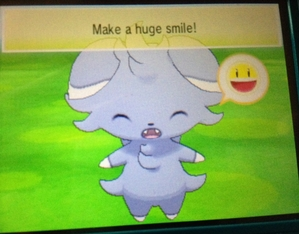 Espurr really does smile! Kawaii Nyasper desu!