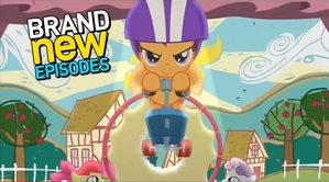 """Promo pic of Scootaloo from """"Flight to the Finish"""""""