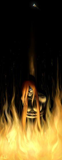 """On this 火災, 火 I'll burn until the 日 the wind takes my ash away."" (Art by: SunRiseEA)"